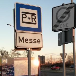 P+R Messe Leipzig